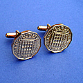 Threepence coin cufflinks availble with a selection of years from 1953 to 1967