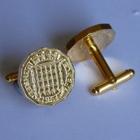 Threepence coin cufflinks available in the following years: 1953, 1954, 1955, 1956, 1957, 1958, 1959, 1960, 1961, 1962, 1963, 1964, 1965, 1966 and 1967.